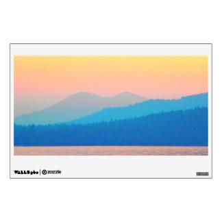 Cyan and Salmon Sunset Wall Sticker