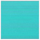 [ Thumbnail: Cyan and Teal Colored Stripes/Lines Pattern Fabric ]