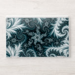 """Cyan and white fractal pattern. HP laptop skin<br><div class=""""desc"""">Cyan and white fractal pattern. Beautiful &#171;frost&#187; pattern: cyan and white. Beautiful design. Best gift for girls and women.</div>"""