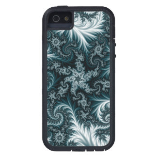 Cyan  and white fractal pattern. iPhone SE/5/5s case