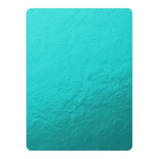 Cyan Aqua Blue Foil Printed Card