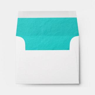 Cyan Aqua Blue Foil Printed Envelope