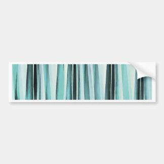 Cyan Blue Ocean Stripey Lines Pattern Bumper Sticker