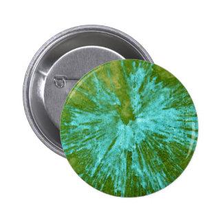 Cyan Blue on Green Paintball Button