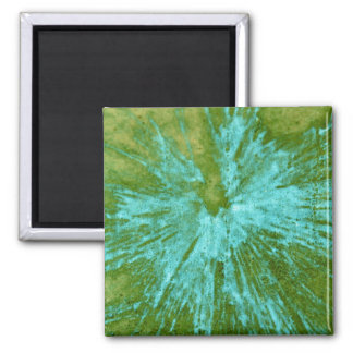 Cyan Blue on Green Paintball Magnet