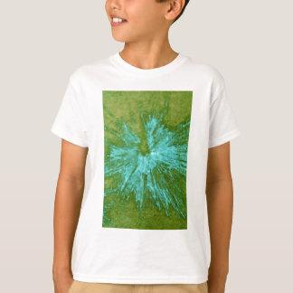 Cyan Blue on Green Paintball T-Shirt