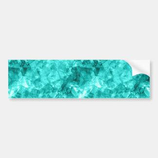Cyan Crumpled Texture Bumper Sticker