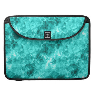 Cyan Crumpled Texture Sleeve For MacBook Pro