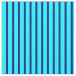 [ Thumbnail: Cyan & Dark Blue Pattern Fabric ]