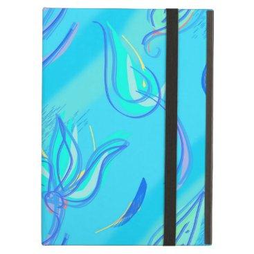 Cyan Floral Case For iPad Air