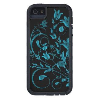 Cyan floral Swirl iPhone 5/5S Case