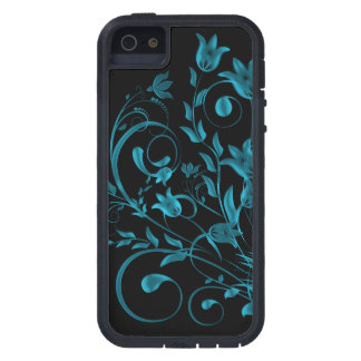 Cyan floral Swirl iPhone 5 Cover