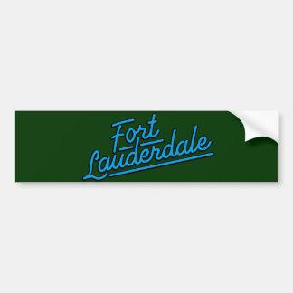 cyan Fort Lauderdale Car Bumper Sticker