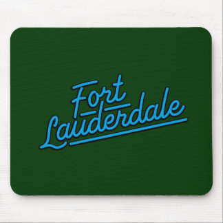 cyan Fort Lauderdale Mouse Pad