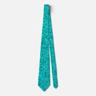 Cyan Glitter Tie