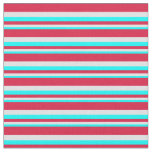 [ Thumbnail: Cyan, Lavender & Crimson Colored Pattern Fabric ]