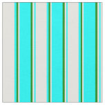 [ Thumbnail: Cyan, Light Yellow, and Green Colored Lines Fabric ]