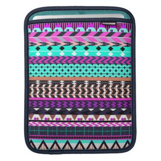 Cyan Magenta Aztec Sleeve For iPads