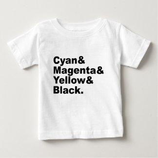 Cyan Magenta Yellow Black CMYK Color Scheme Baby T-Shirt