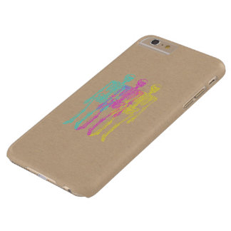 Cyan Magenta Yellow Letterpress Skeletons Barely There iPhone 6 Plus Case