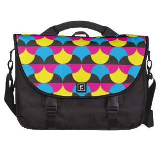 cyan magenta yelow black shapes commuter bags