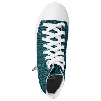 Cyan Moire Sneakers Printed Shoes