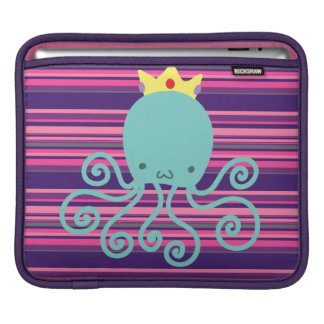 Cyan Octopus Princess iPad Sleeve