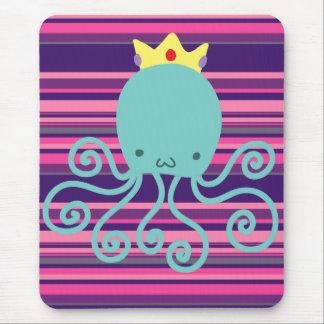 Cyan Octopus Princess Mouse Pad