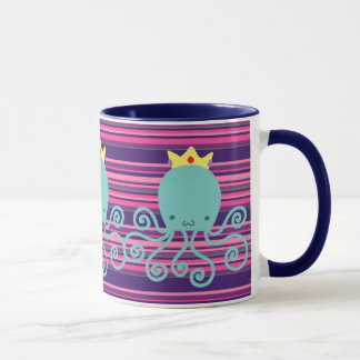 Cyan Octopus Princess Mug