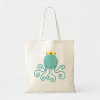 Cyan Octopus Princess Tote Bag