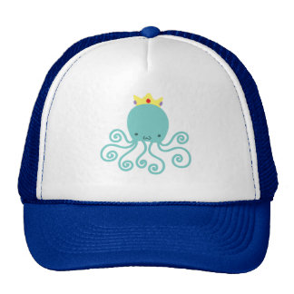 Cyan Octopus Princess Trucker Hat