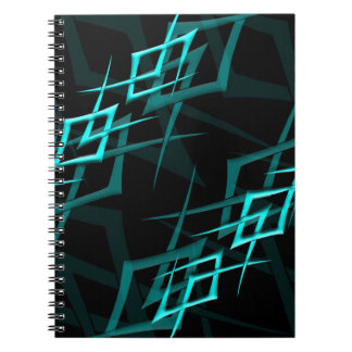 "Cyan on Black ""Thorn"" Notebook"