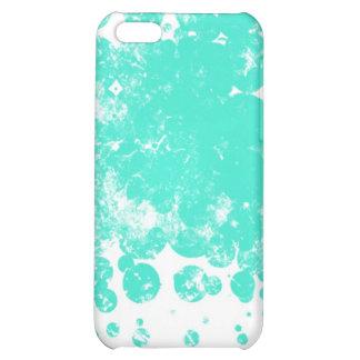 cyan on white iPhone 5C case
