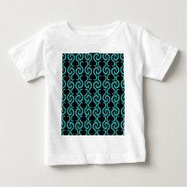 Cyan pattern baby T-Shirt