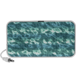 Cyan Pearlescent Pattern. Chic Aquamarine Blue iPhone Speakers