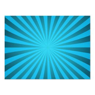 Cyan ray design 6.5x8.75 paper invitation card