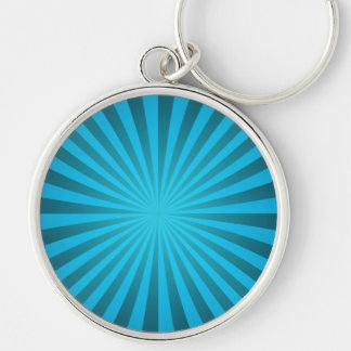 Cyan ray design keychain