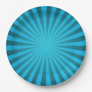 Cyan ray design paper plate