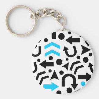 Cyan right direction keychain