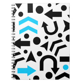 Cyan right direction notebook