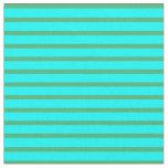 [ Thumbnail: Cyan & Sea Green Colored Pattern of Stripes Fabric ]