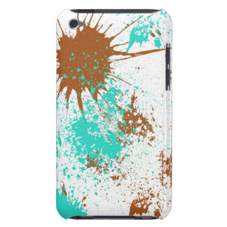 cyan splatter iPod Case-Mate case