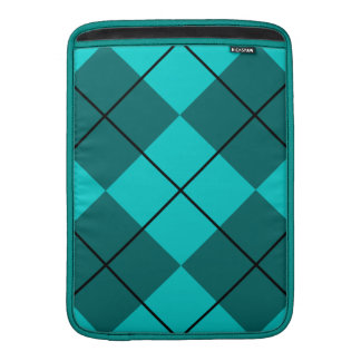Cyan Teal Blue Argyle MacBook Air Sleeve