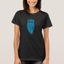 Cyan The Majestic Owl T-Shirt