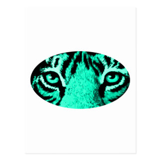 Cyan Tiger Eyes The MUSEUM Zazzle Gifts Postcard