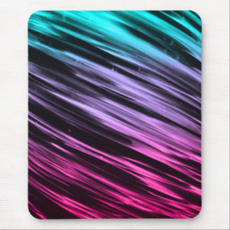 Cyan to Pink Streaks Mouse Pad