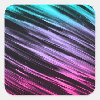 Cyan to Pink Streaks Square Sticker