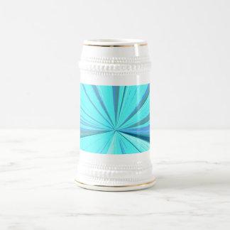 Cyan Vanishing Point Beer Stein 18 Oz Beer Stein
