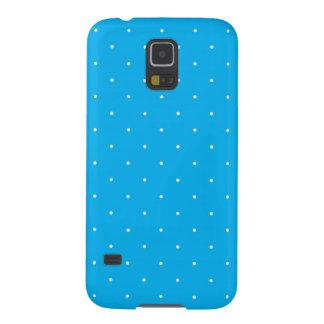 Cyan & White Polka Dots Galaxy S5 Case