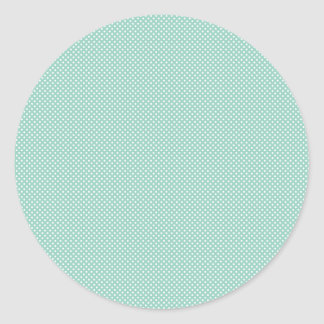 Cyan With Simple White Dots Classic Round Sticker
